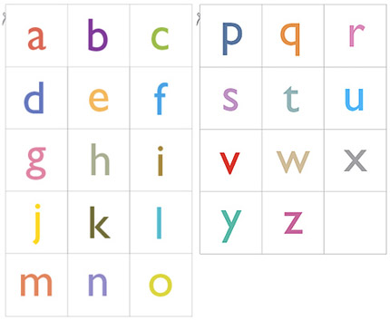7 Images of Free Printable Alphabet Cards