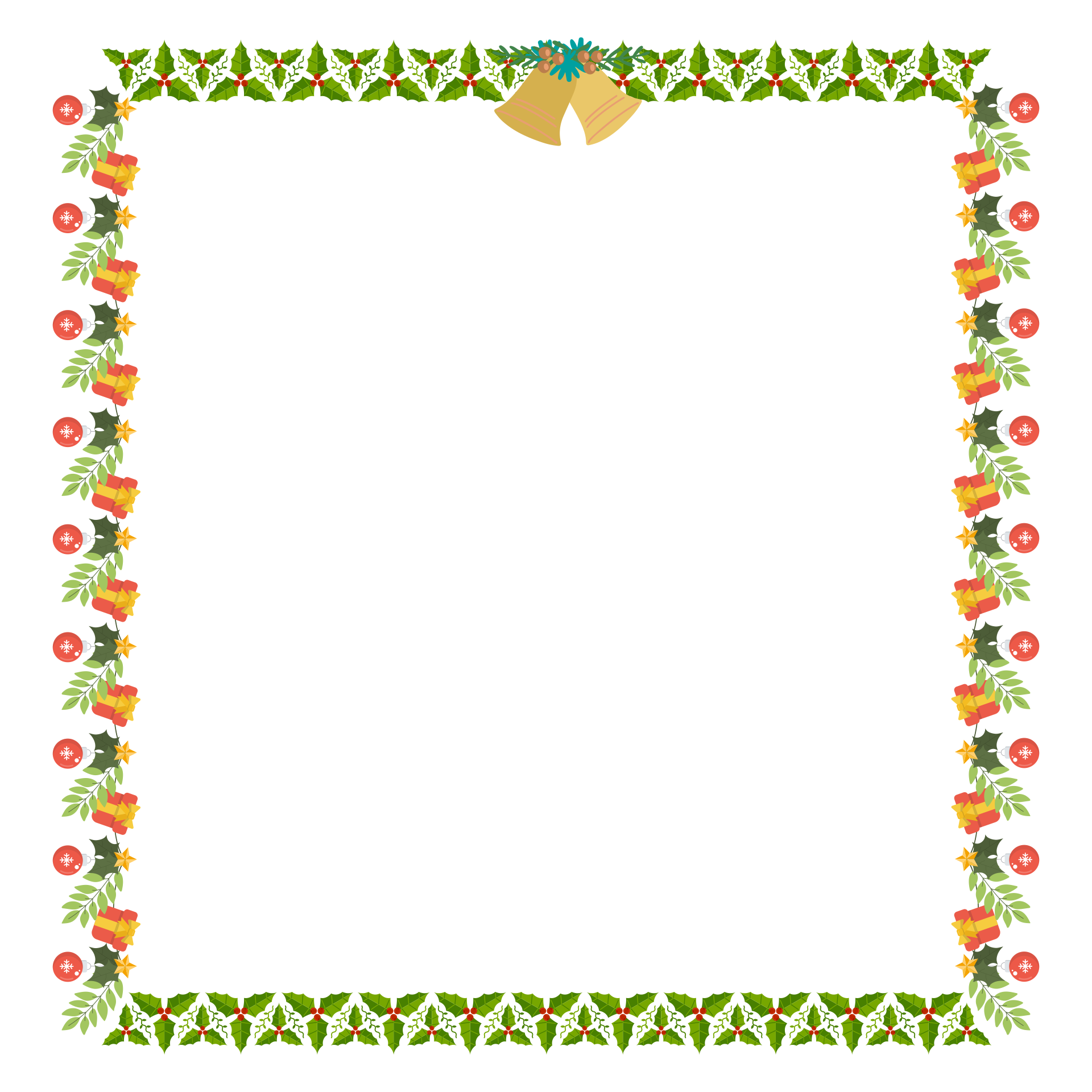 8 Images of Free Printable Borders Christmas Stationery