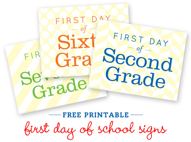 6 Images of 1st Day Of School Free Printables