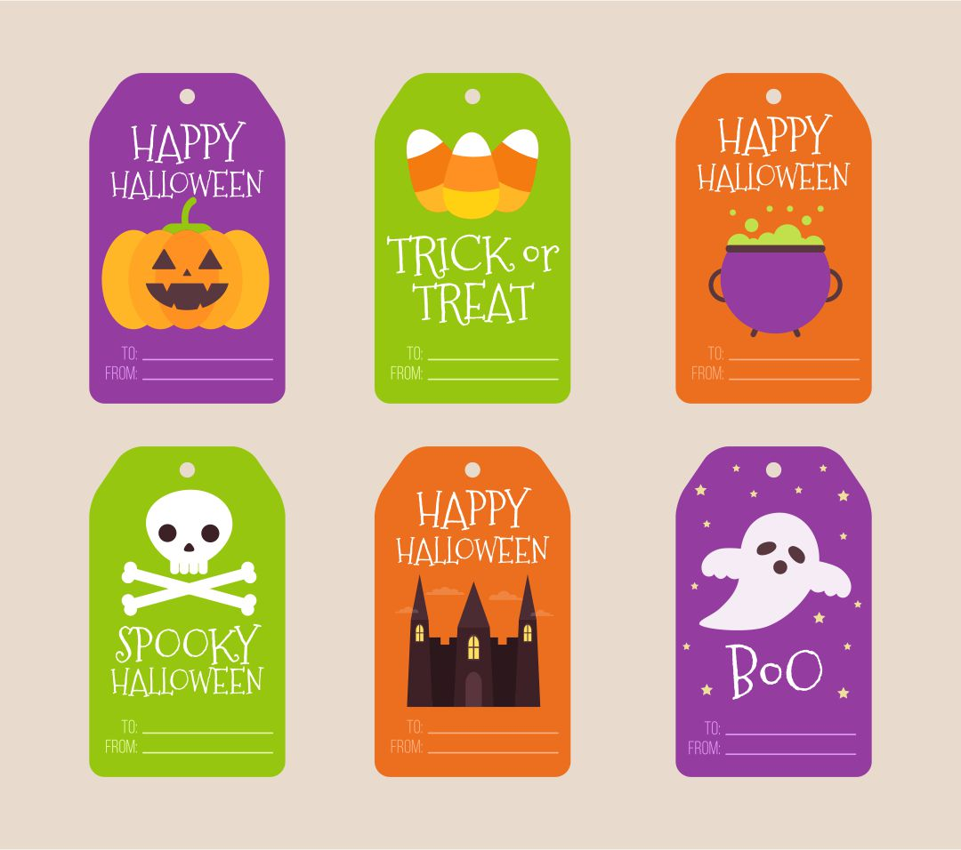 8 Images of Free Halloween Printable Gift Tags