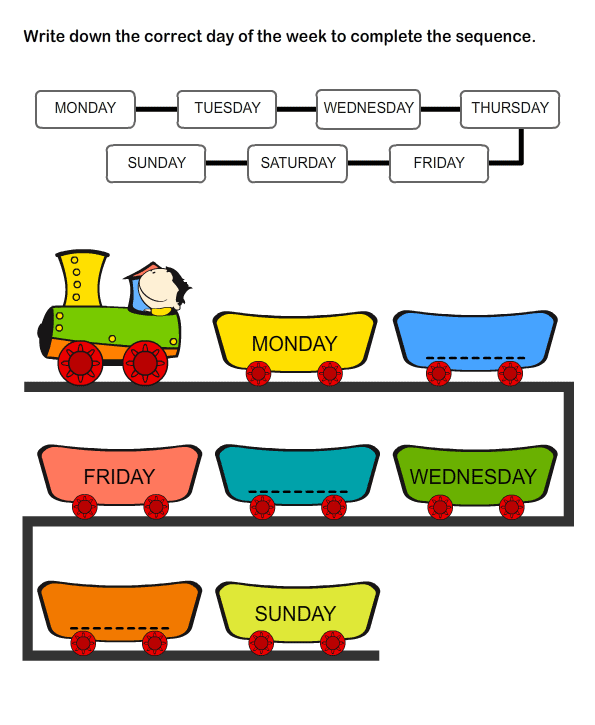 6 Best Images of Days Of The Week Printables For Kindergarten ...