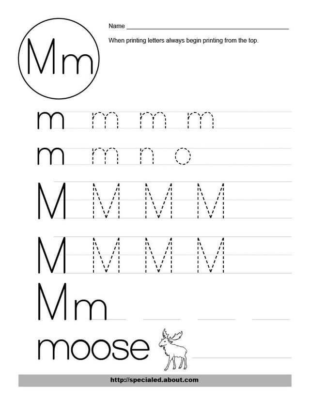 math worksheet : 5 best images of printable letter m activities  preschool  : Letter M Worksheet Kindergarten