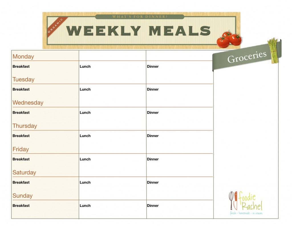 5 best images of free printable blank meal plan chart free meal plan printables free. Black Bedroom Furniture Sets. Home Design Ideas