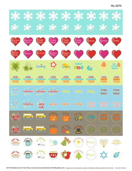 7 Images of Printable Life Planner Stickers