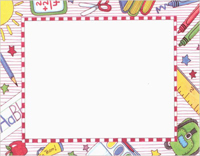Printable School Page Borders - Free Printable School Borders Clip Art ...