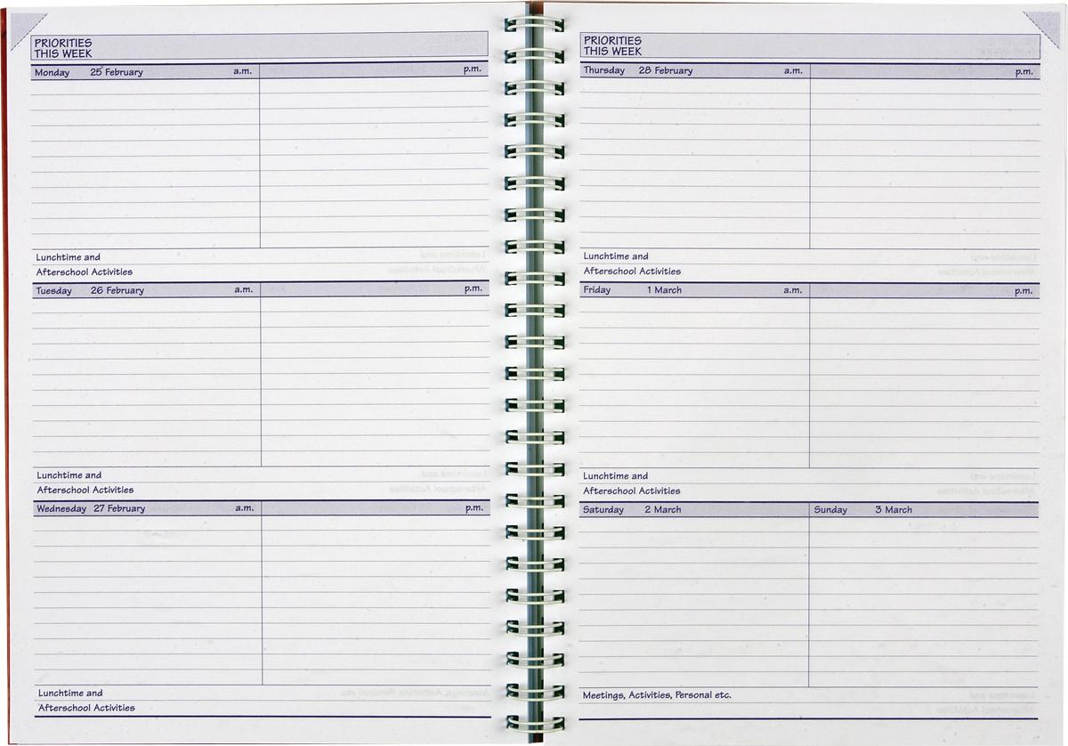 Free Printable School Homework Planner Page