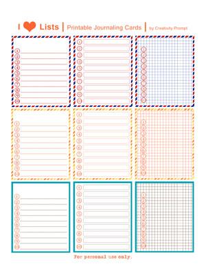 Free Printable Scrapbook Journaling Templates