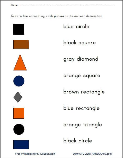 Number Names Worksheets free printable english worksheets for kindergarten : 6 Best Images of Printable Shapes Worksheets Kindergarten ...