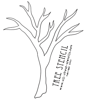 4 Images of Tree Stencil Printable