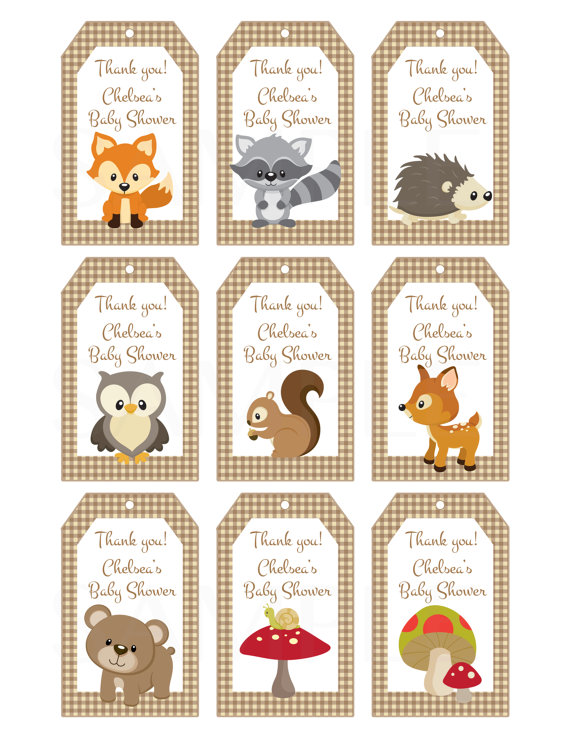 4 Images of Woodland Animals Baby Shower Printables
