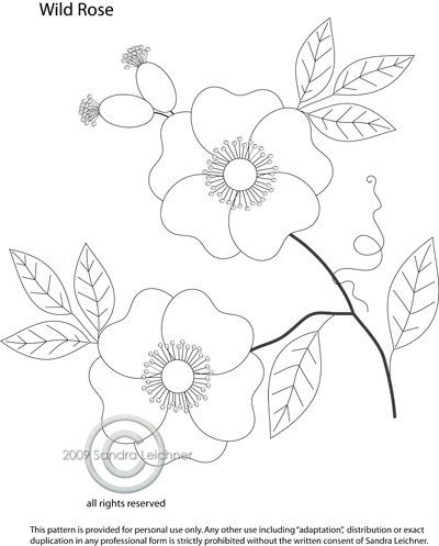 7 Images of Rose Applique Free Printable Pattern