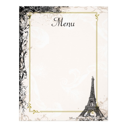 french cafe menu template 9 best images of printable french menus printable french