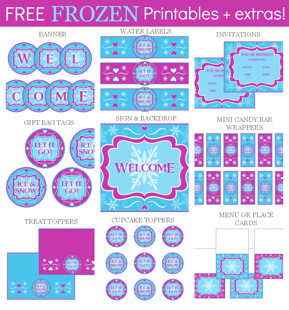 6 Images of Frozen Party Printables Activities