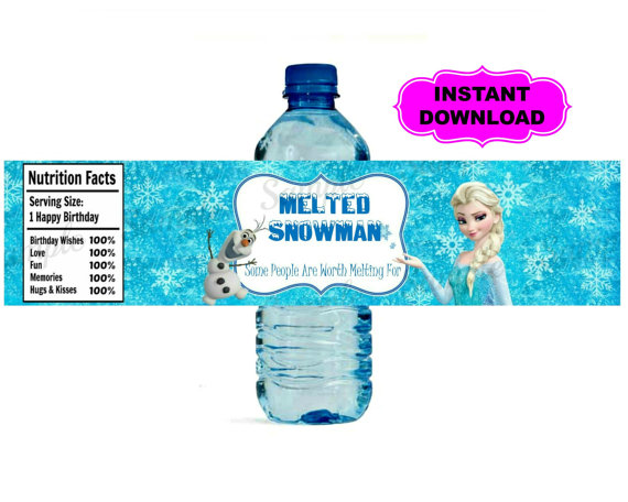 7 Images of Frozen Water Bottle Labels Printable PDF