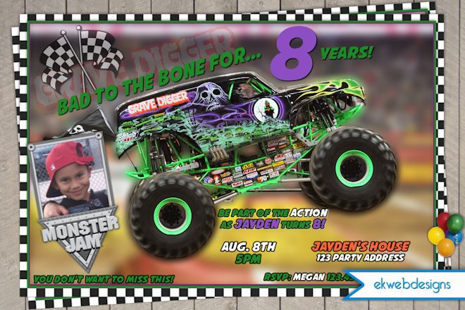 8 Best Images Of Monster Truck Template Printable