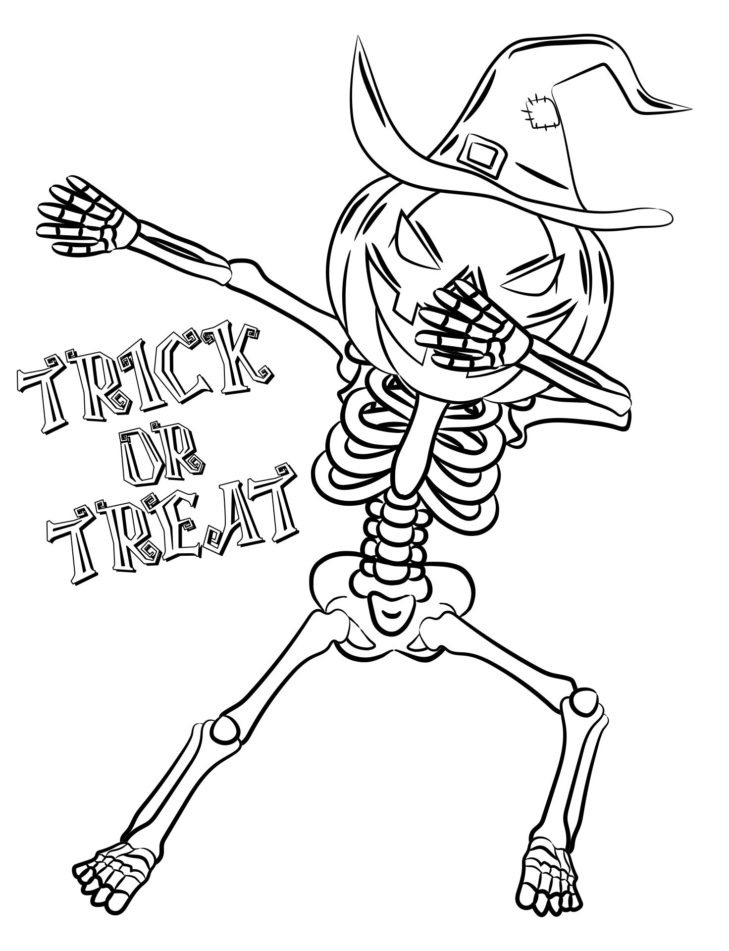 Halloween Skeleton Coloring Pages Printables