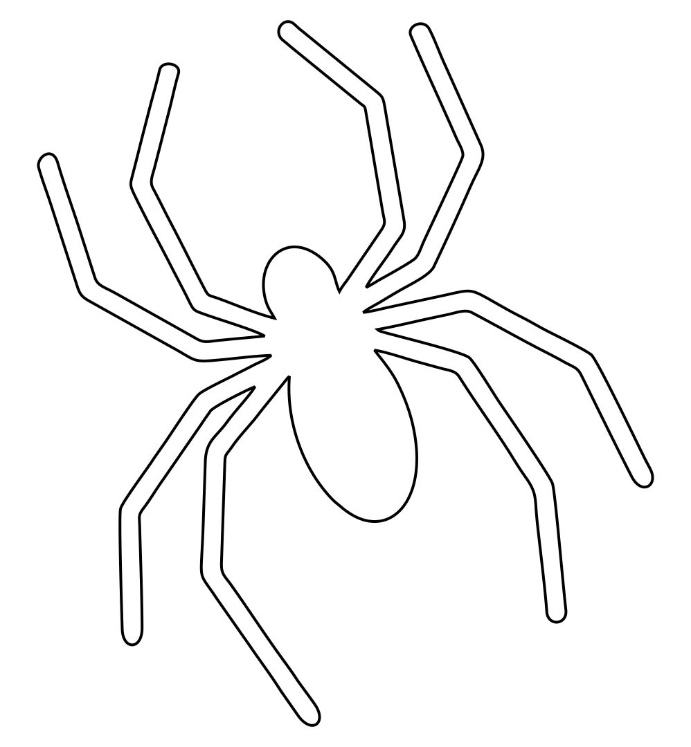 7 Images of Printable Halloween Templates Spider