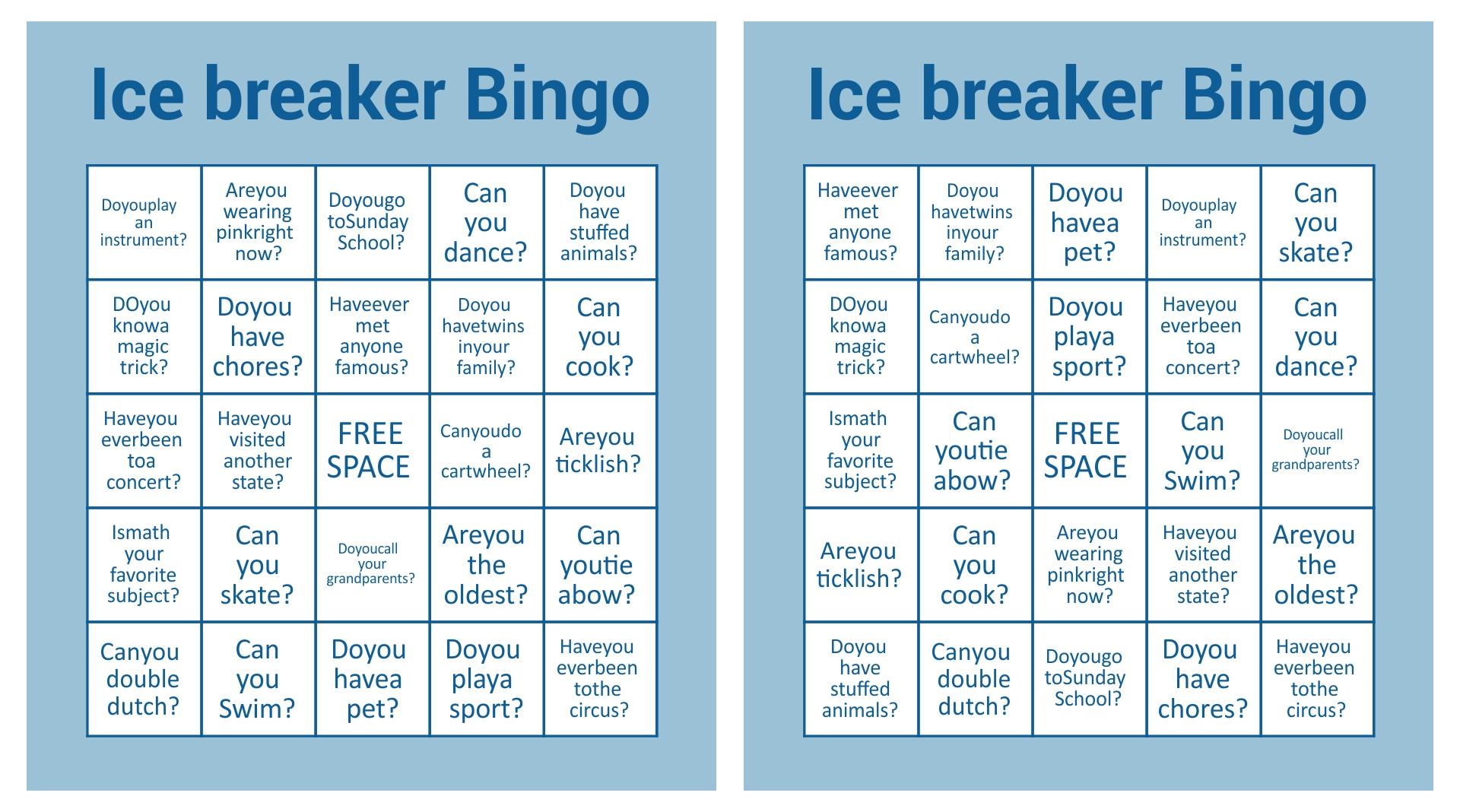 8 Images of Printable Christmas Bingo Ice Breaker