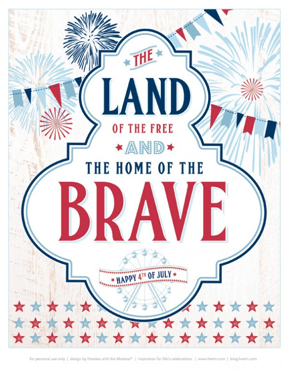 6 Images of Free Printables July 4