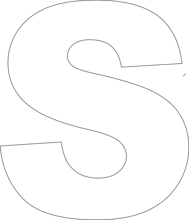 8 Images of Letter S Printable Template