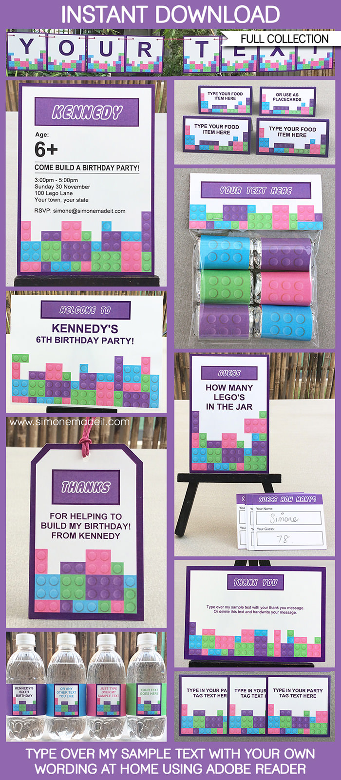 5 Images of LEGO Friends Party Printables