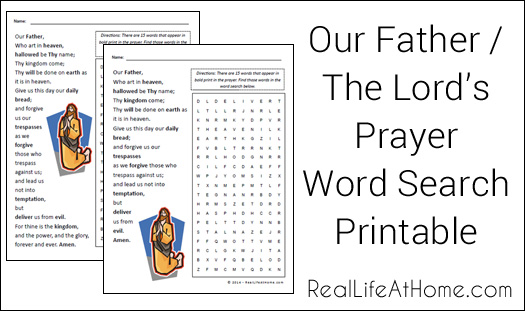 4 Images of Lord S Prayer Word Search Printable