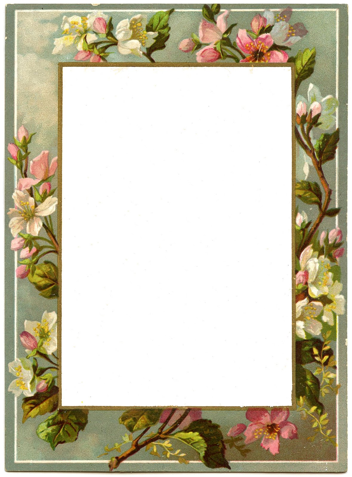 4 Images of Free Printable Vintage Style Frames