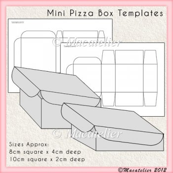 5 Images of Mini Pizza Box Template Printable