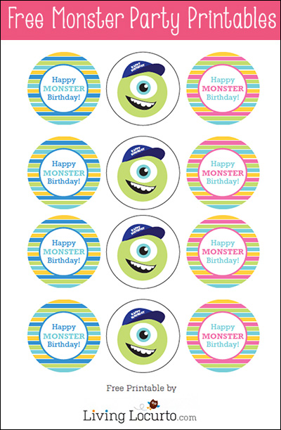 Monster Inc Birthday Party Free Printables