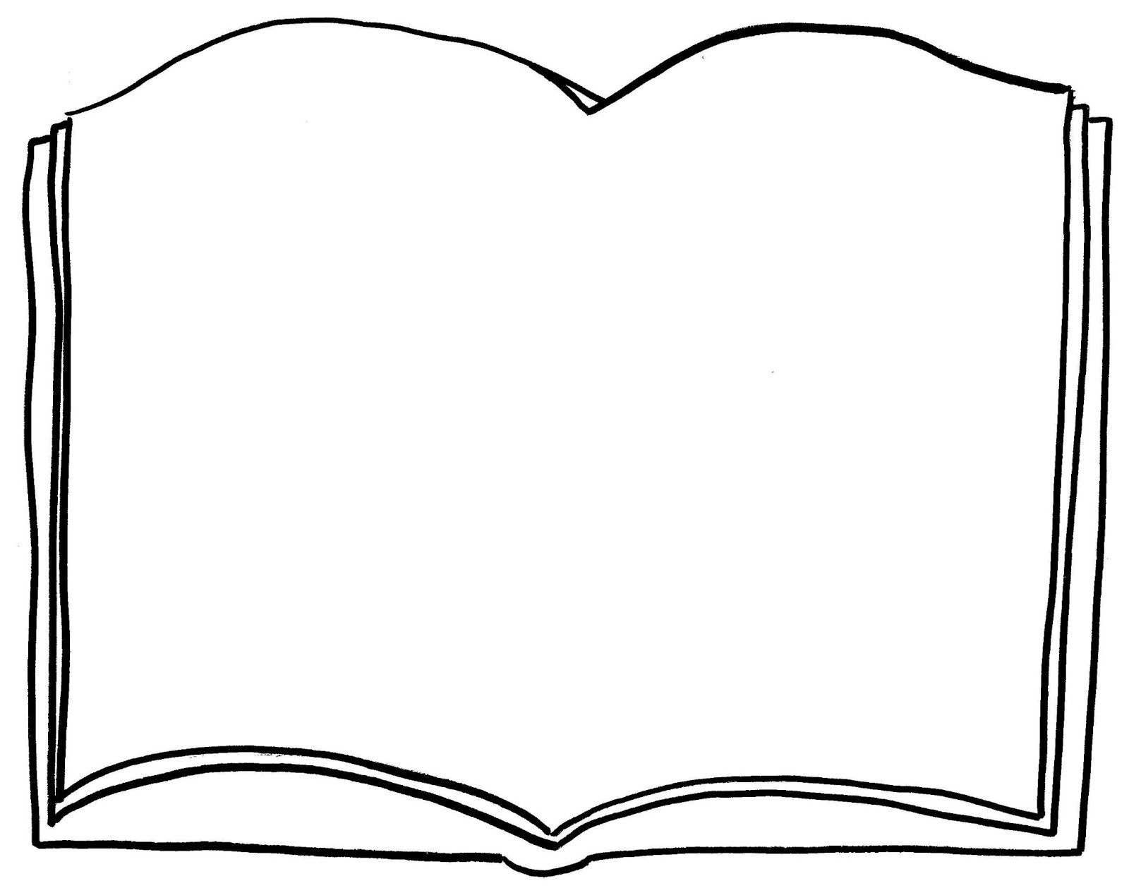 5 Images of Open Book Printable Pages