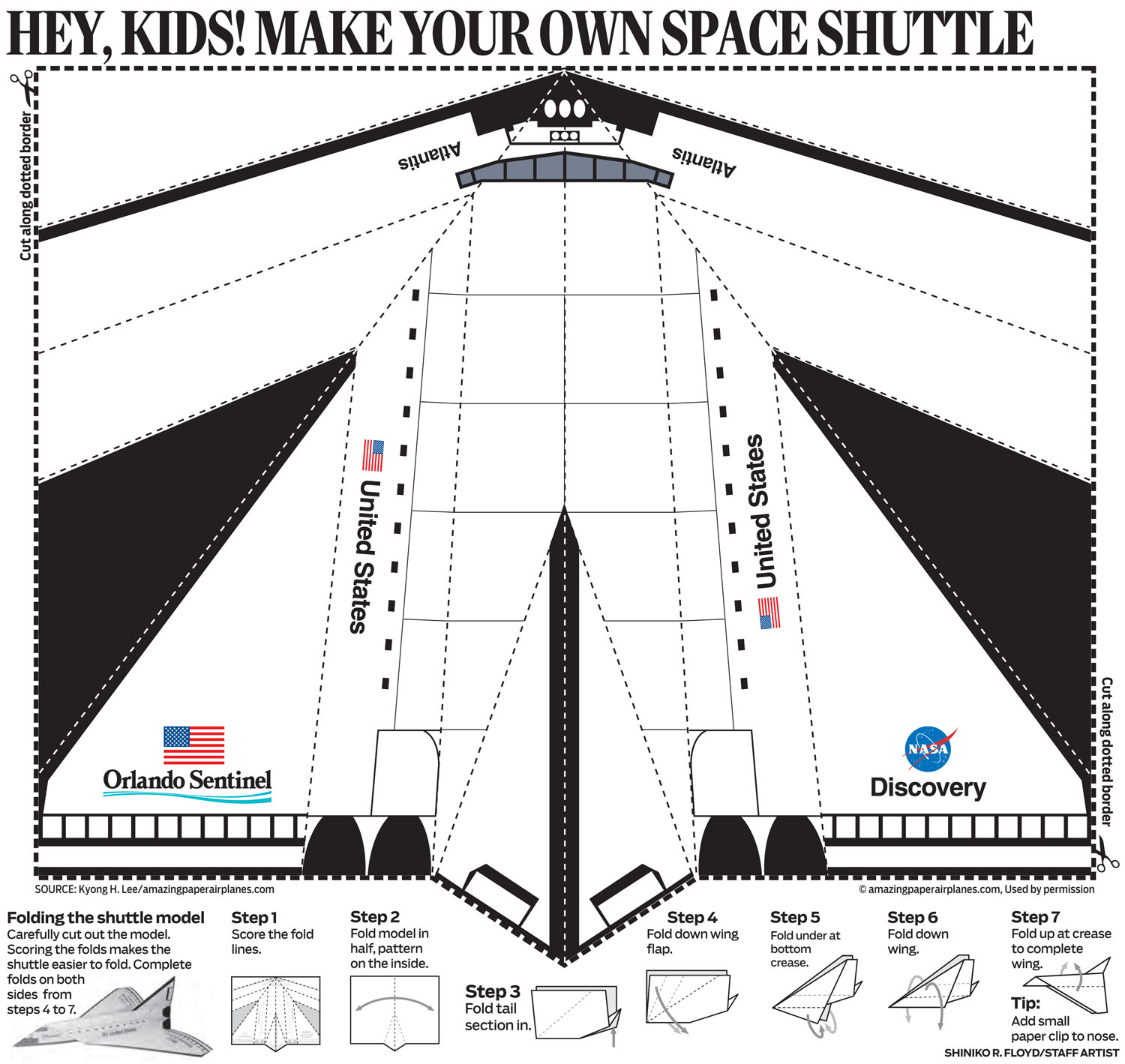 5 Images of Space Shuttle Paper Airplane Printable