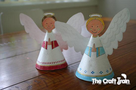 how to make christmas tree angel photo