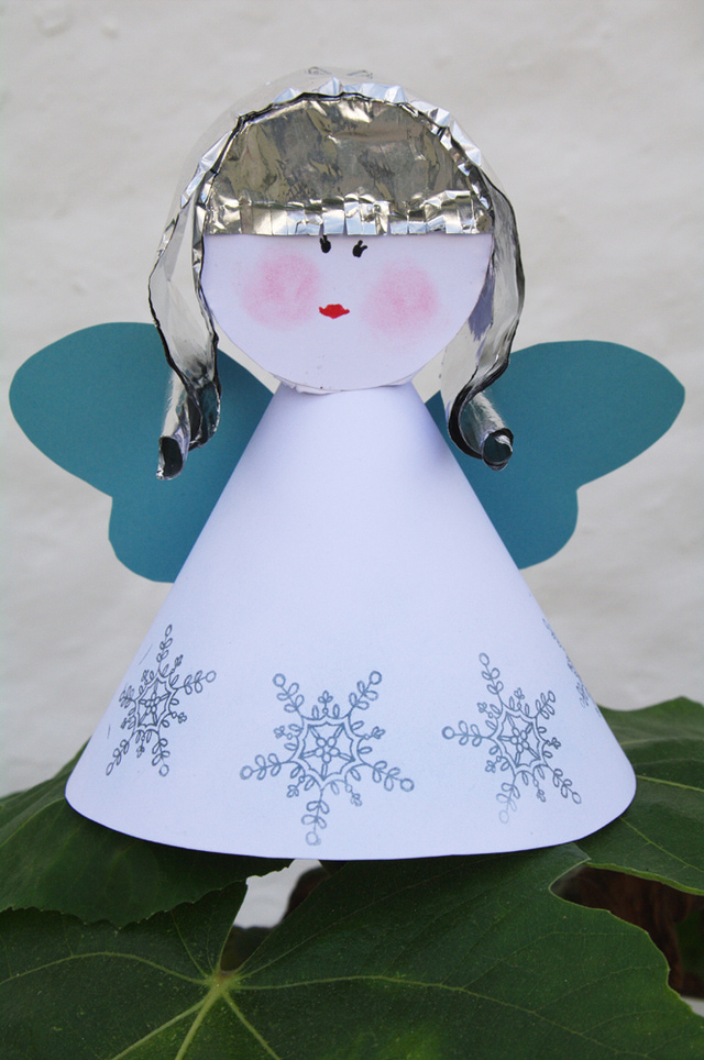 6 Images of Printable Christmas Angel Cone
