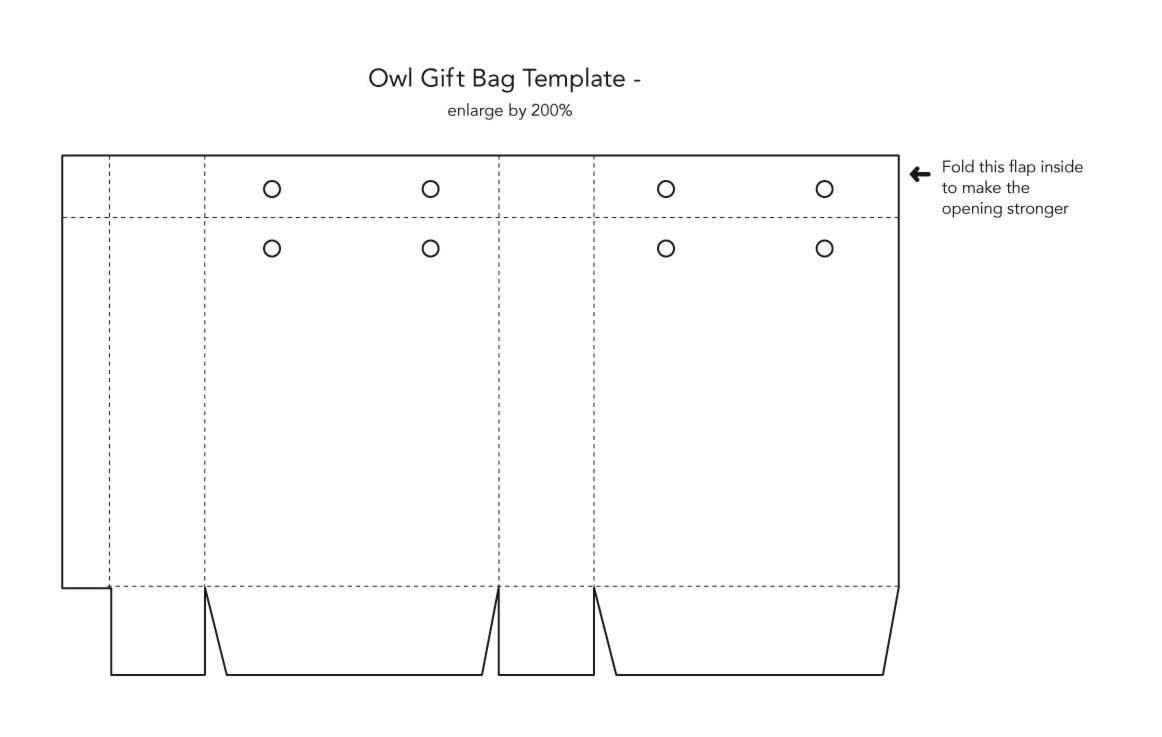 6 Images of Printable Paper Bag Template