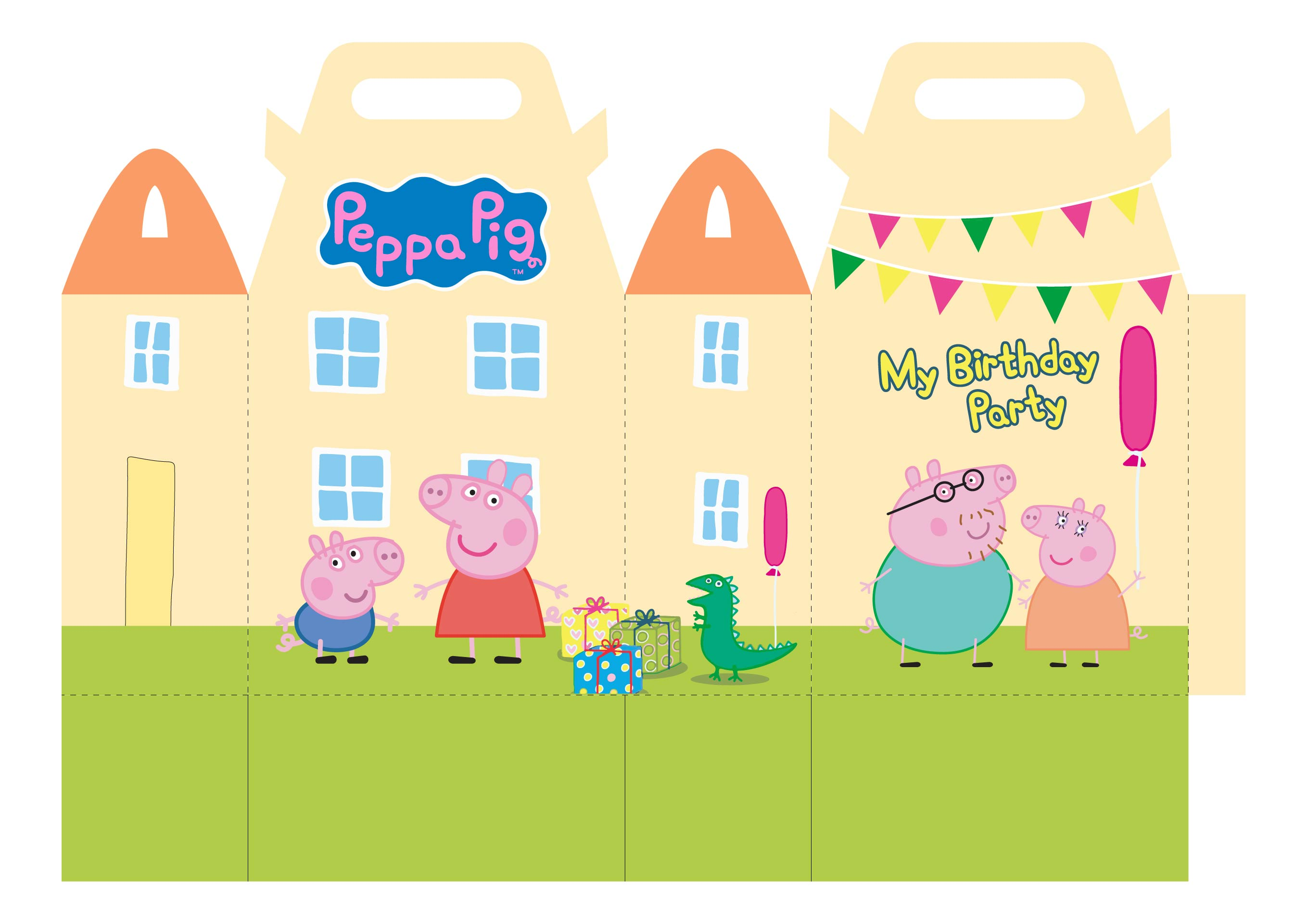 Images of Peppa Pig Printable Template - Peppa Pig Characters, Peppa ...