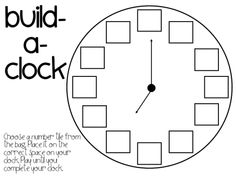 5 Images of Clock Printable For Kindergarten Book