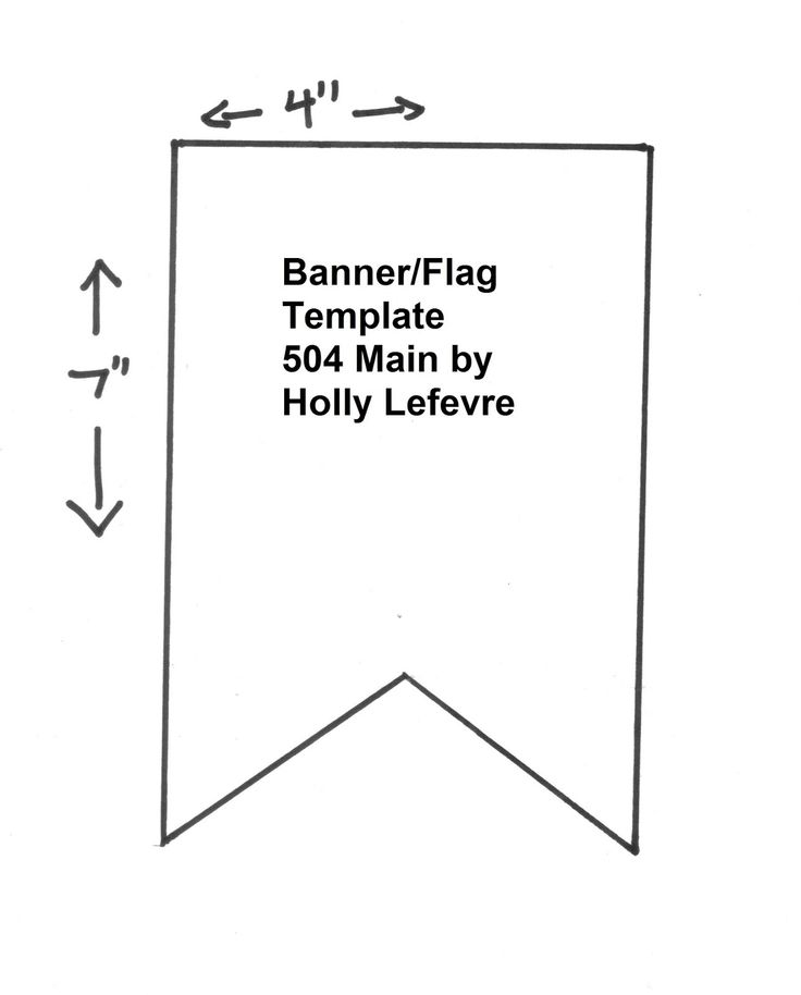 7 Images of Printable Pennant Flag Banner