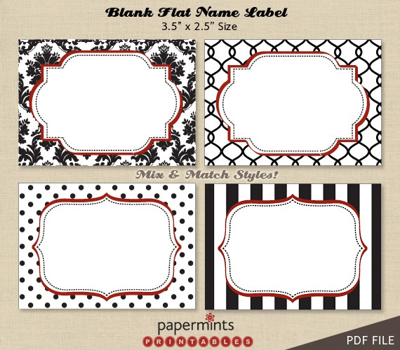 4 Images of Blank Printable Labels Thank You