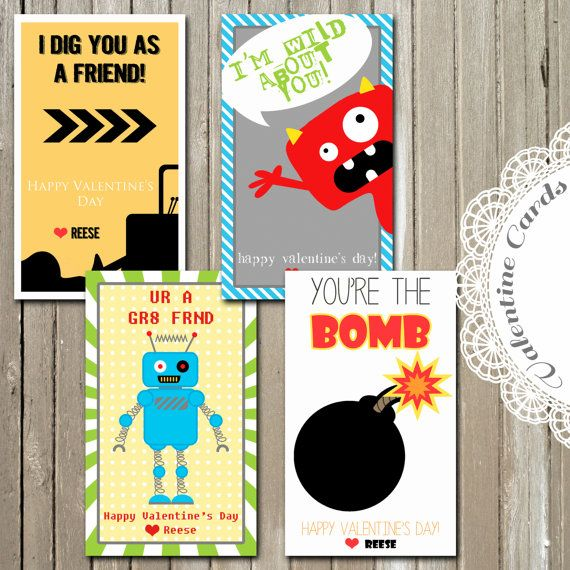 7 Best Images of For Boys Valentines Printable Free Printable – Boy Valentine Cards