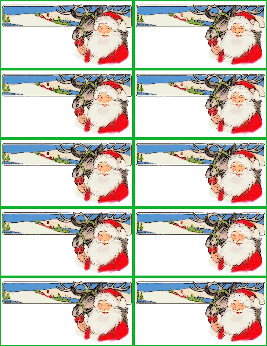 7 Images of Santa Name Tags Printable