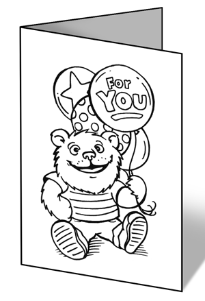 4 Images of Get Well Coloring Cards Printable
