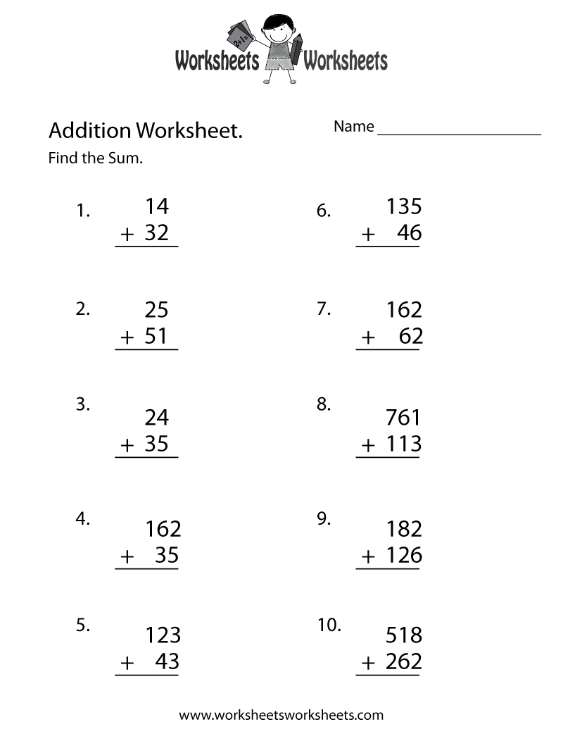 math worksheet : 5 best images of free printable math worksheets  free 2nd grade  : Touchpoint Math Worksheets Printable
