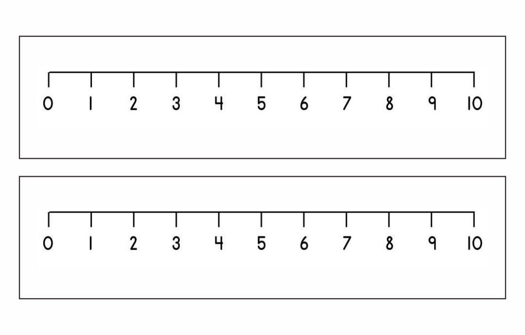 Printable Number Line 10