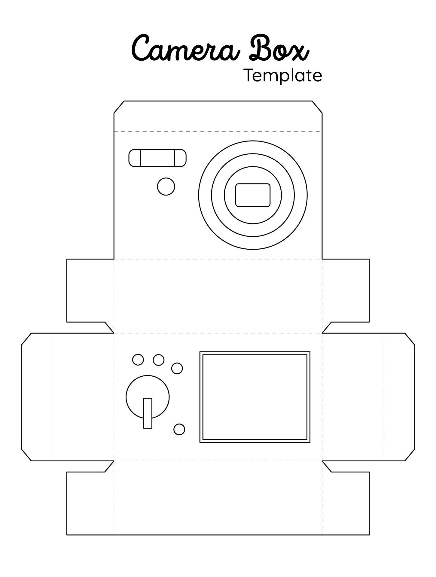Printable Paper Camera Template