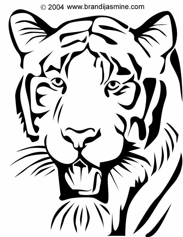 6 Images of Tiger Stencils Printable