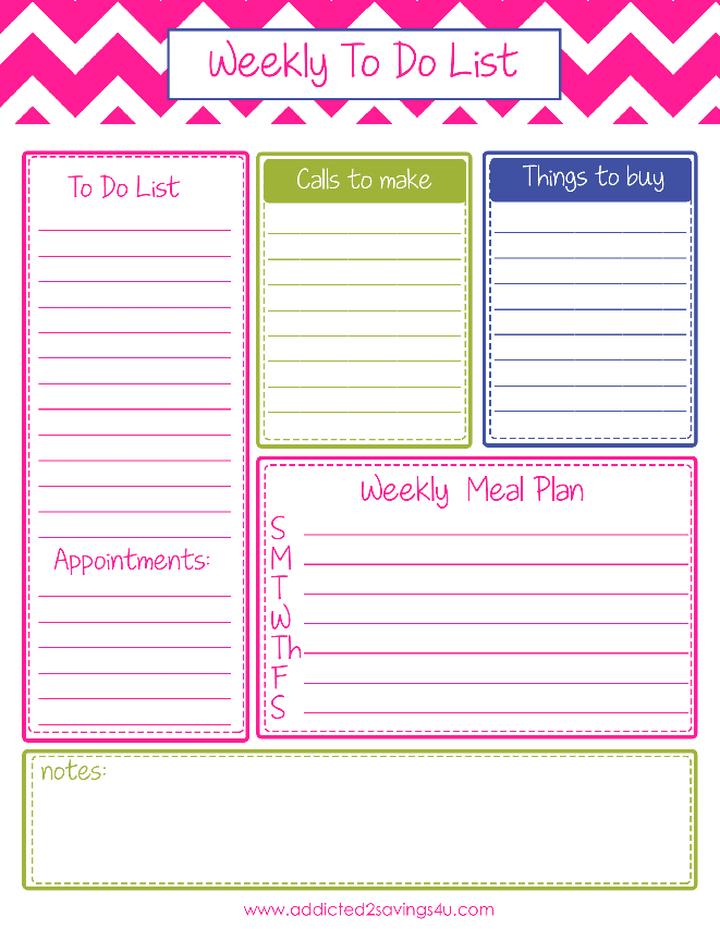 Weekly Calendar With To Do List : Best images of printable to do list weekly monthly