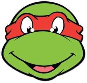 5 Images of Printable Ninja Turtle Face
