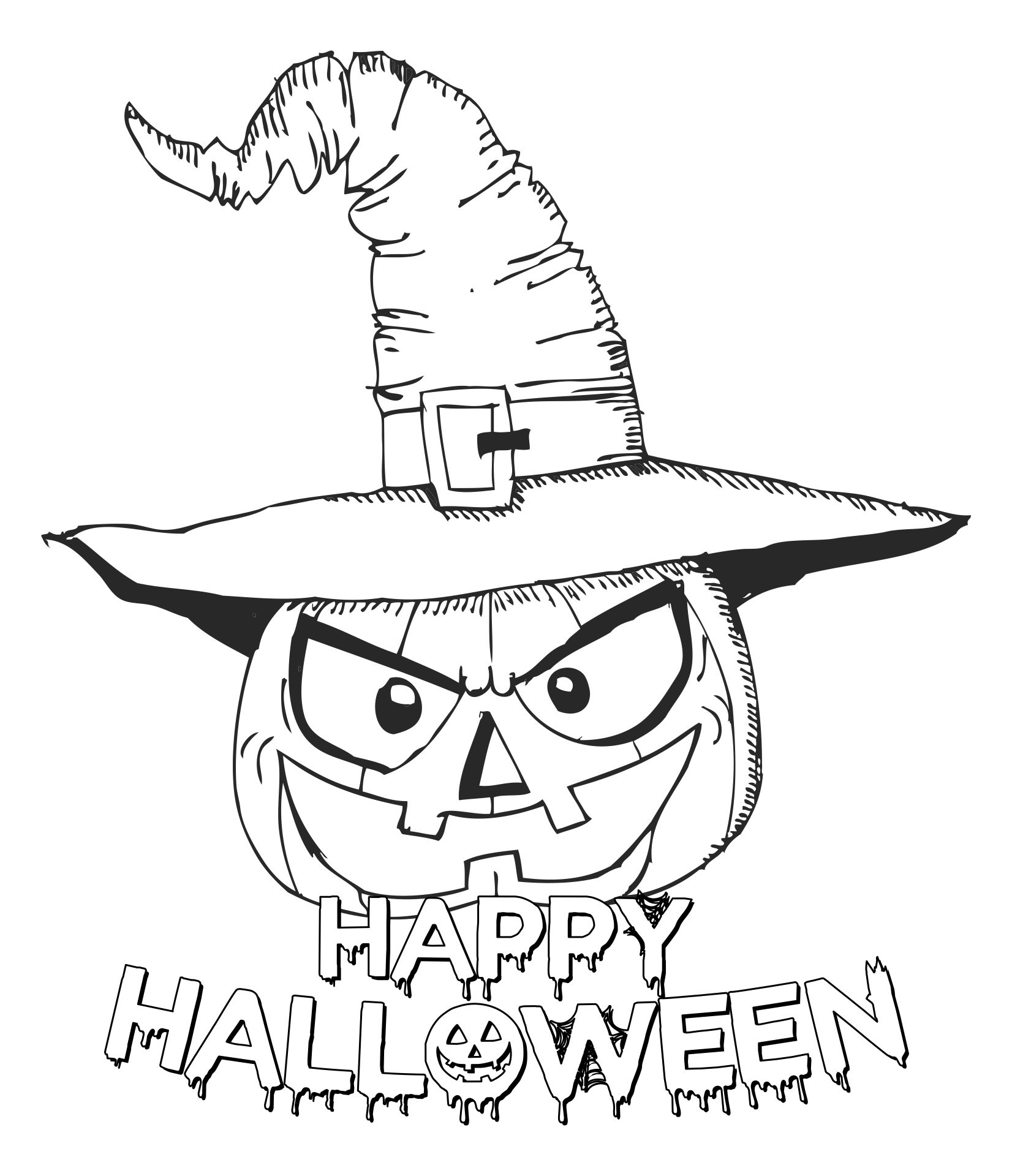 Scary Halloween Coloring Pages Free