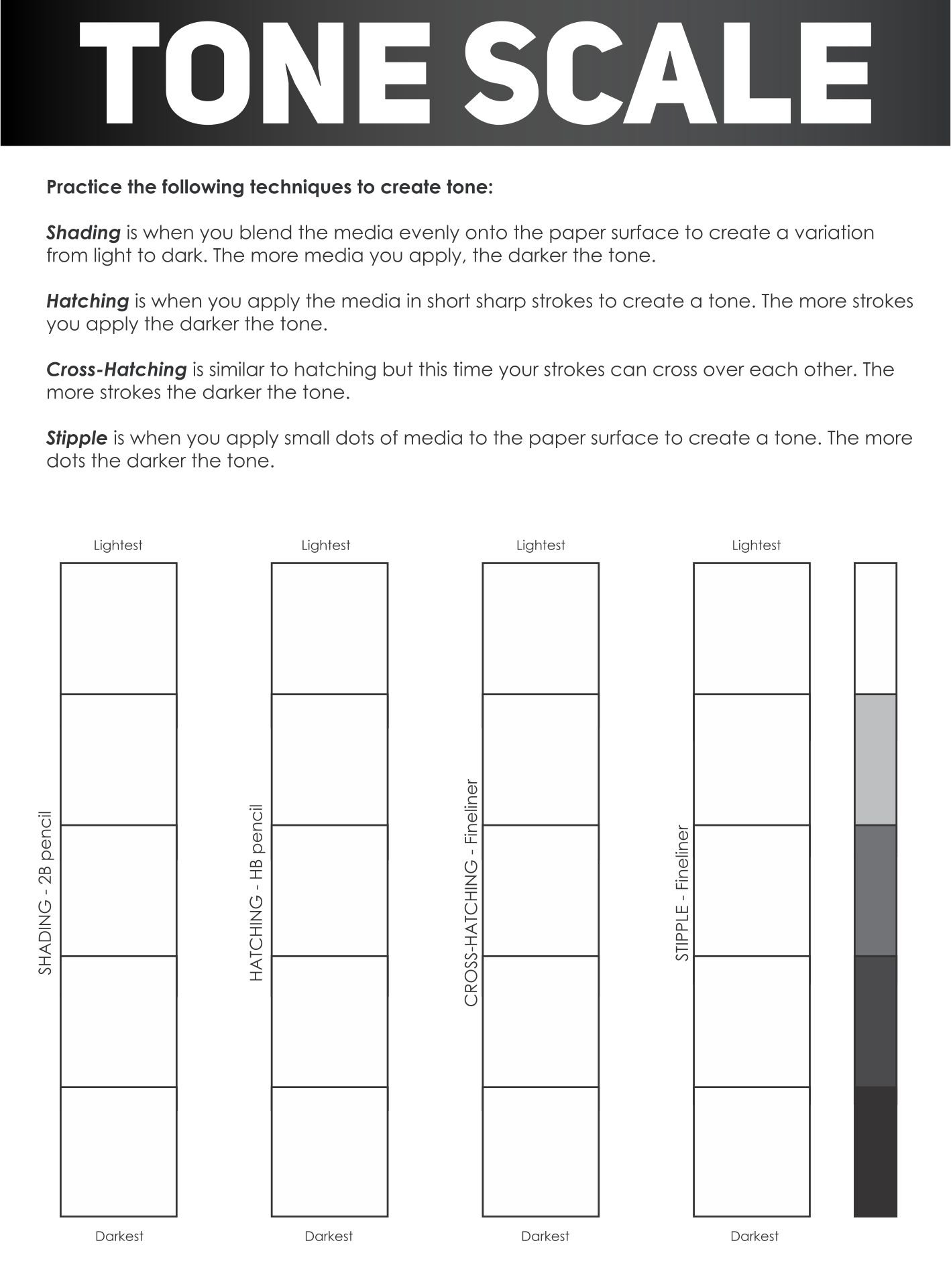 6 Images of Value Scale Worksheet Printable