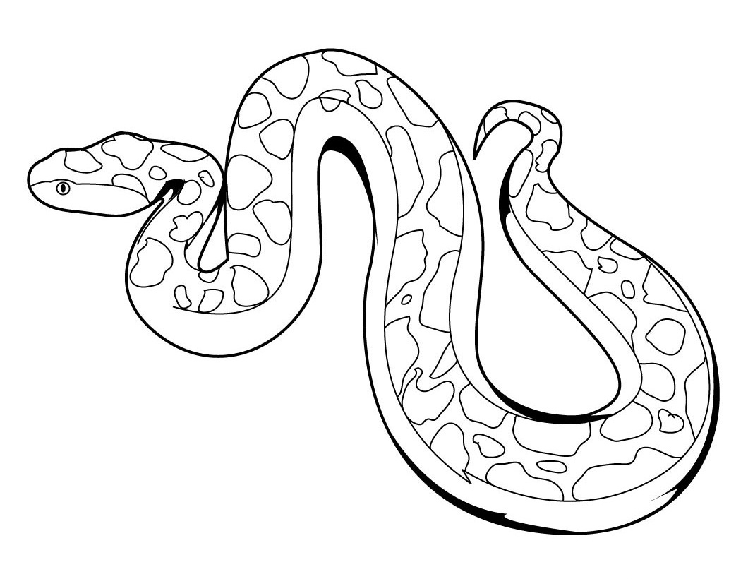 6 Images of Free Printable Snake Coloring Pages